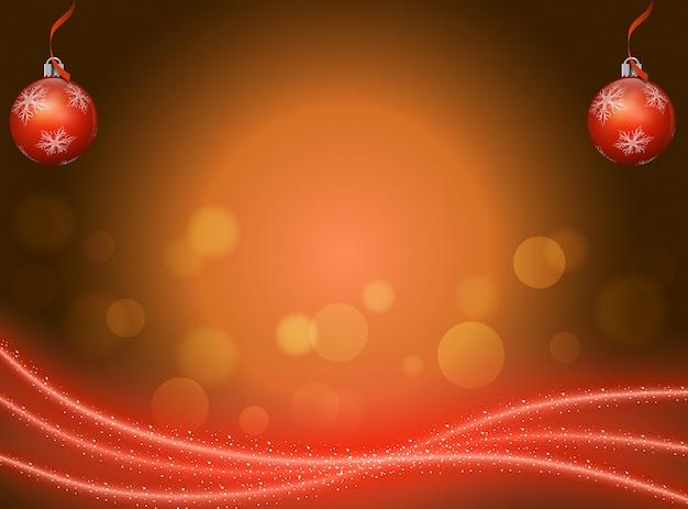 Abstrait festif rouge avec des ornements.