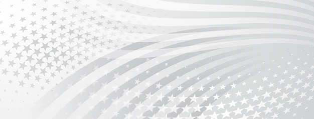 Abstrait de la fête de l'indépendance des états-unis avec des éléments du drapeau américain en couleurs grises