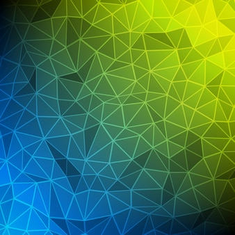 Abstrait filaire polygonale 3d formes triangulaires