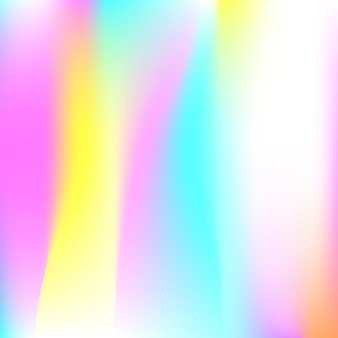 Abstrait de filet de dégradé. toile de fond holographique minimale avec filet de dégradé. style rétro des années 90 et 80. modèle graphique irisé pour bannière, flyer, conception de couverture, interface mobile, application web.