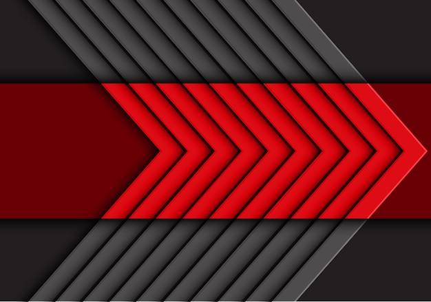Abstrait de la flèche rouge gris