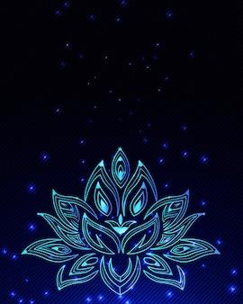 Abstrait avec des fleurs et des particules magnifiques