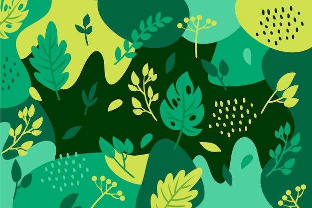 Abstrait floral au design plat