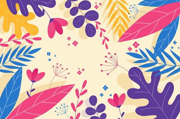 Abstrait floral coloré