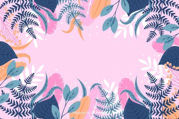 Abstrait floral dessiné à la main coloré