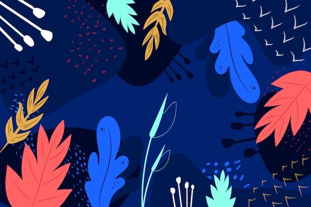 Abstrait floral dessiné à la main