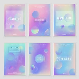 Abstrait flou dégradé holographique design moderne. iridescent