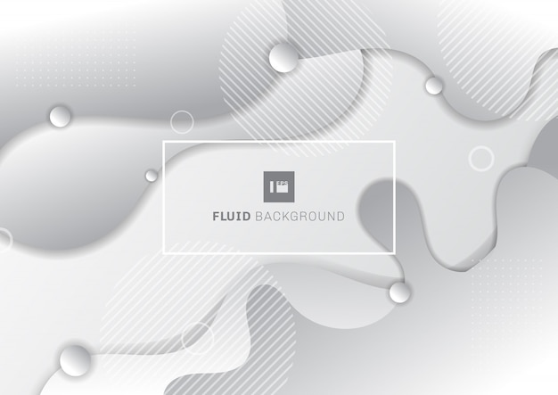 Abstrait fluide blanc et gris