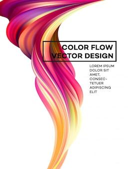 Abstrait fluide coloré