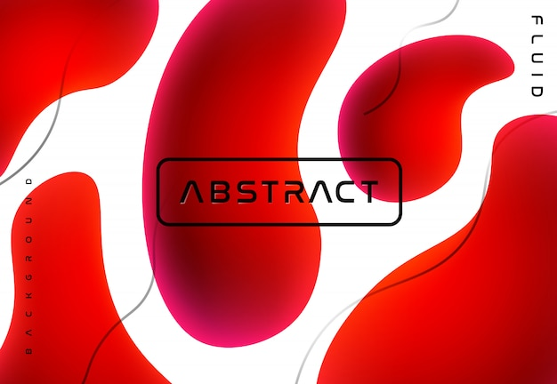 Abstrait fluide rouge
