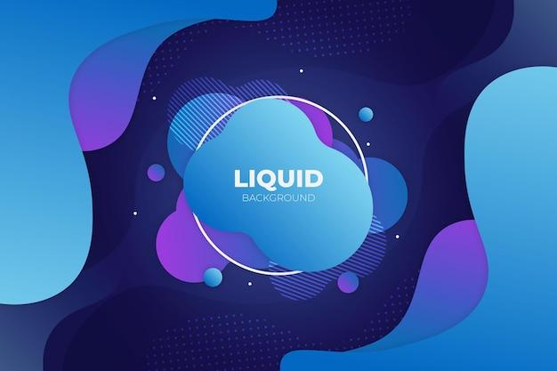 Abstrait fluide violet et bleu