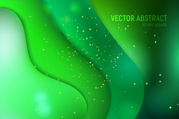 Abstrait avec flux de mouvement vague verte ufo