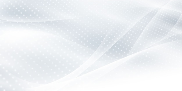 Abstrait fond blanc gris avec des vagues dynamiques. la technologie