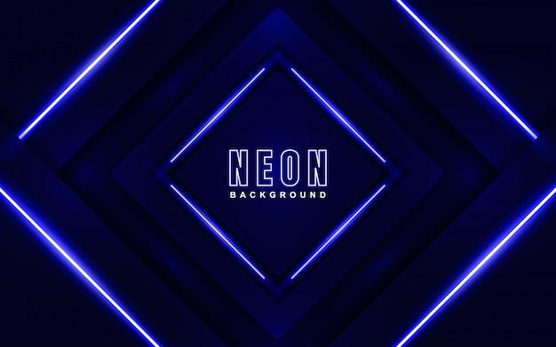 Abstrait fond bleu néon brillant
