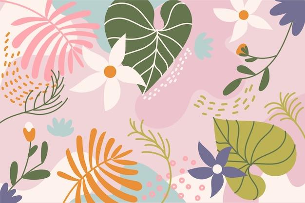 Abstrait fond floral plat