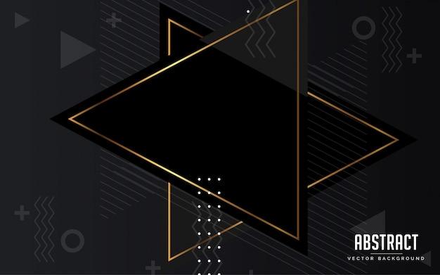 Abstrait fond géométrique noir et gris et or couleur moderne