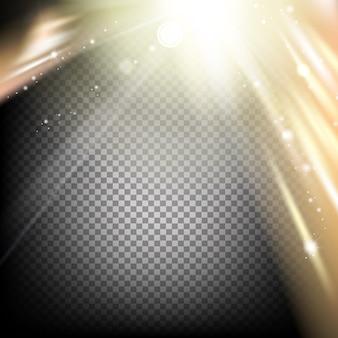 Abstrait fond sombre et confettis dorés.
