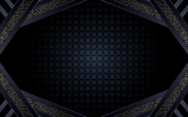 Abstrait fond sombre avec forme géométrique et paillettes