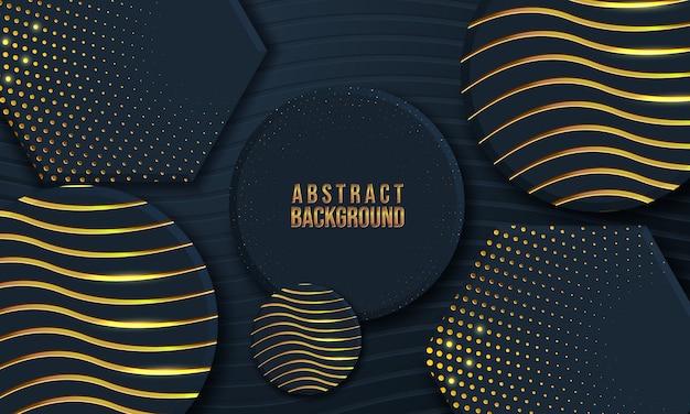 Abstrait avec forme 3d et texture vague
