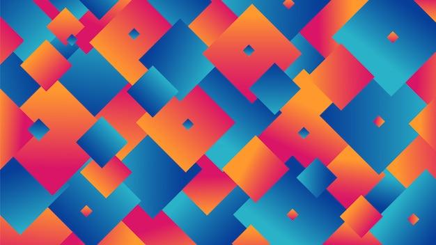 Abstrait de forme carrée