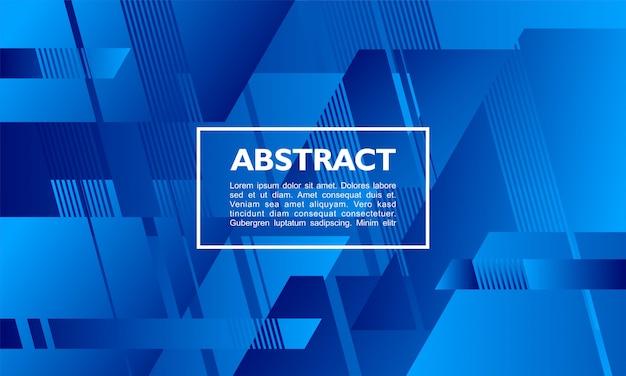 Abstrait avec la forme de composition de parallélogramme qui se chevauchent sur la couleur bleue