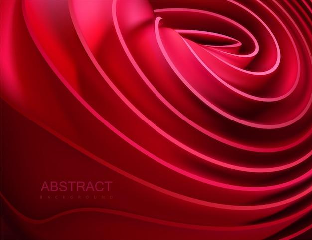 Abstrait avec forme en couches élastique rouge
