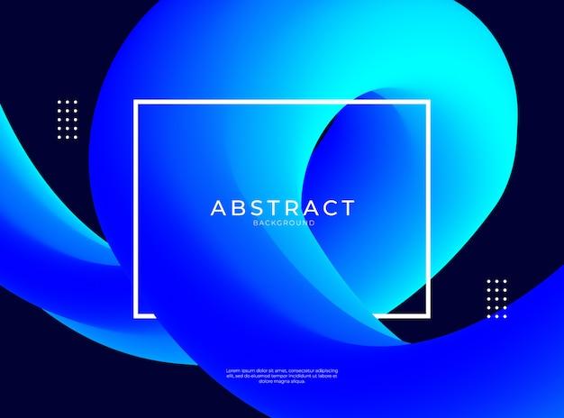 Abstrait avec une forme fluide bleue