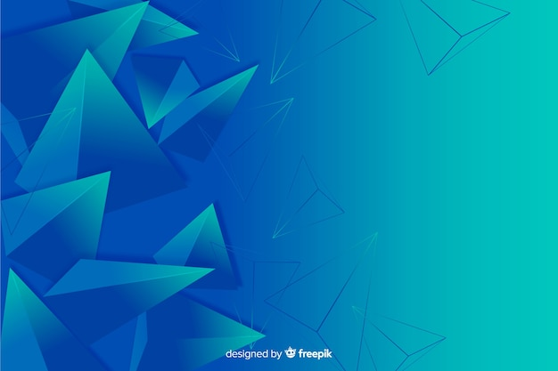 Abstrait de forme géométrique tridimensionnelle