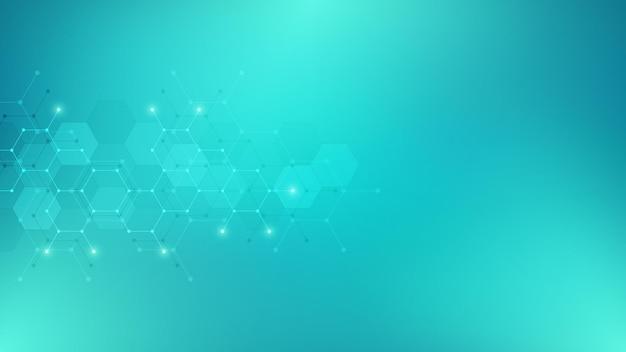 Abstrait de forme hexagone