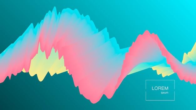 Abstrait de forme liquide avec effet.