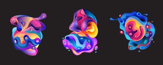 Abstrait de forme liquide
