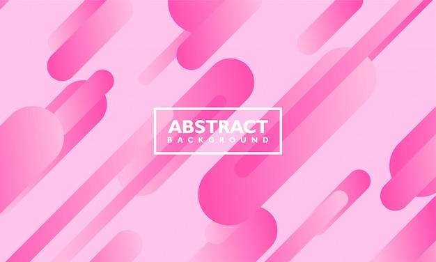 Abstrait avec forme ovale de couleur rose
