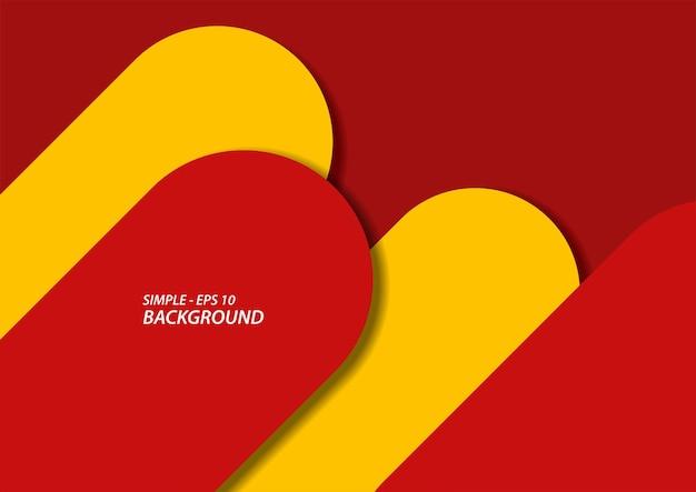 Abstrait de forme simple rouge et jaune, illustration vectorielle en eps10