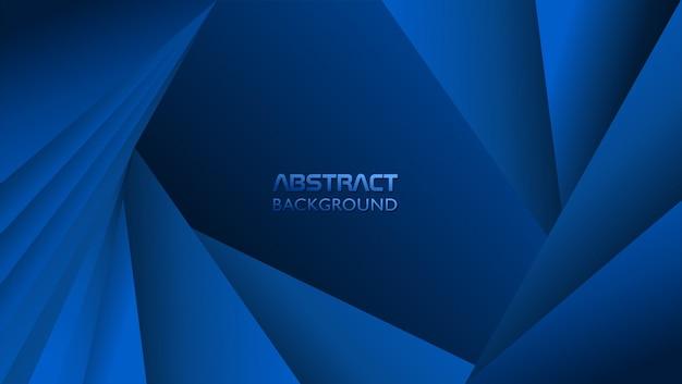 Abstrait avec forme de triangle en couleur bleue