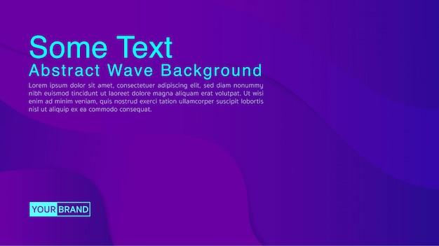 Abstrait avec la forme de vague de l'eau en couleur pourpre