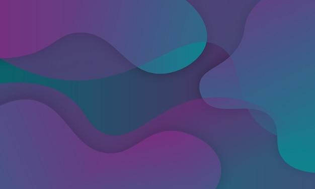Abstrait avec forme de vagues dégradées vertes et violettes. conception pour le web, dépliants.
