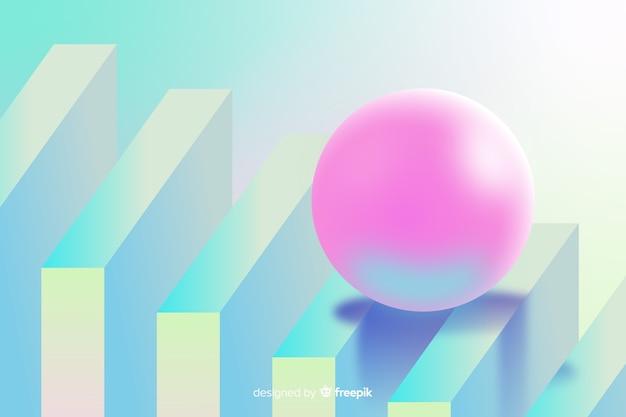 Abstrait avec des formes 3d