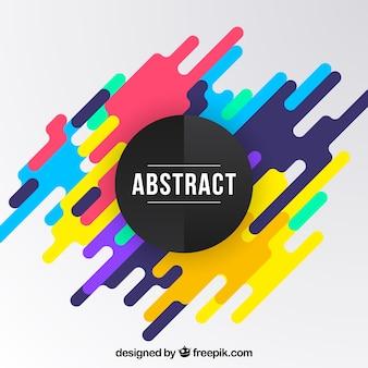Abstrait avec des formes arrondies colorées