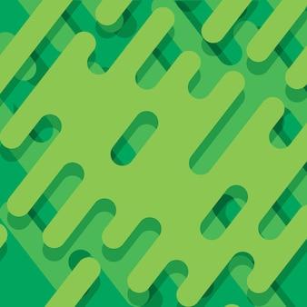 Abstrait avec des formes arrondies vertes