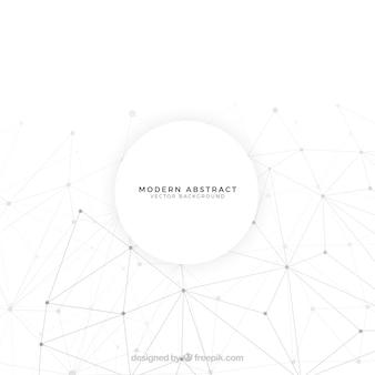 Abstrait avec des formes blanches