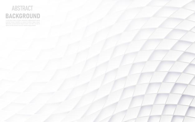 Abstrait de formes carrées blanches.