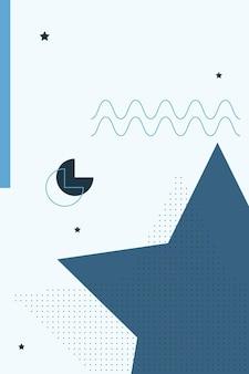 Abstrait, formes colorées, charbon de bois, illustration vectorielle de fond d'écran dégradé bleu.