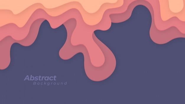 Abstrait avec des formes en couches et ondulées.