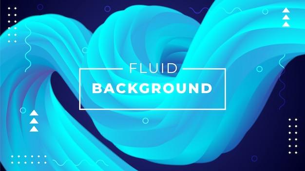 Abstrait avec des formes fluides 3d