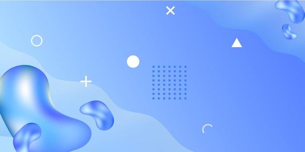 Abstrait avec des formes géométriques et des éléments 3d. fond dégradé de mouvement avec des formes futuristes abstraites