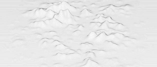 Abstrait avec des formes de lignes déformées sur fond blanc