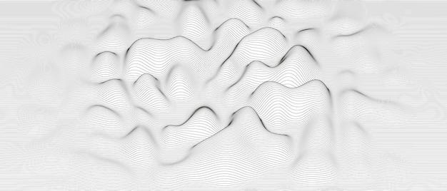 Abstrait avec des formes de lignes déformées