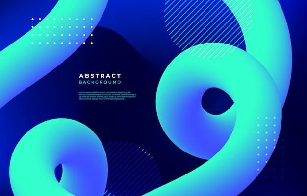 Abstrait avec des formes linéaires fluides