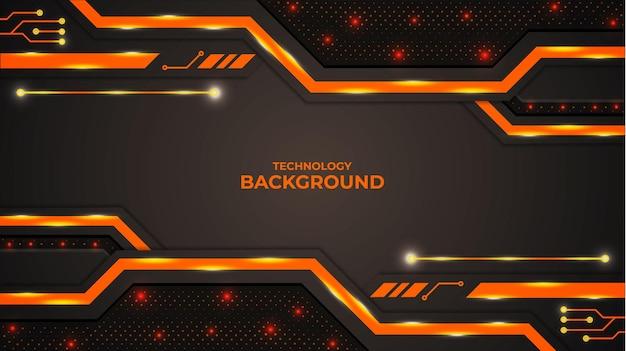 Abstrait avec des formes et des lumières de couleur orange et dégradé.