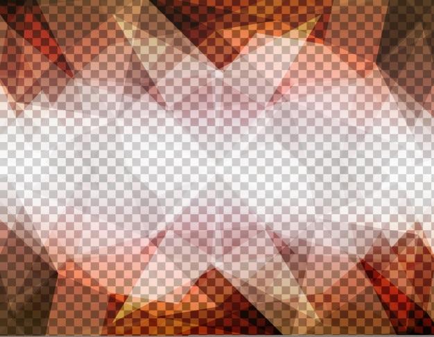 Abstrait formes polygonales bruns sur un fond transparent